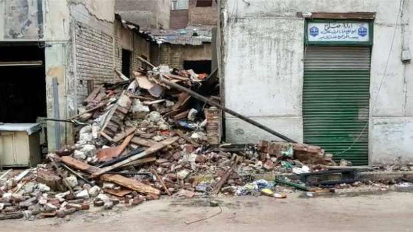 انهيار جزئي في الإسكندرية