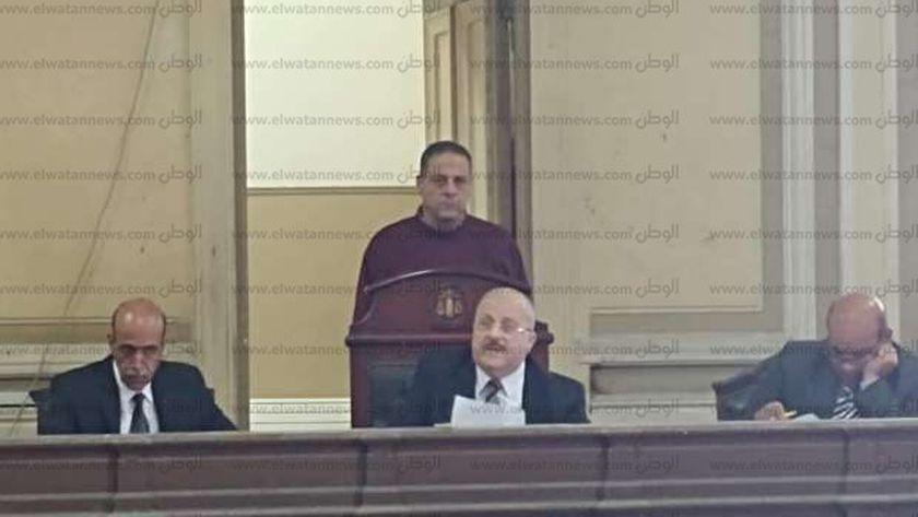 المستشار  مجدى محمد نواره، وبعضوية كلاً من المستشارين رفعت عامر، وعمر سويدان،