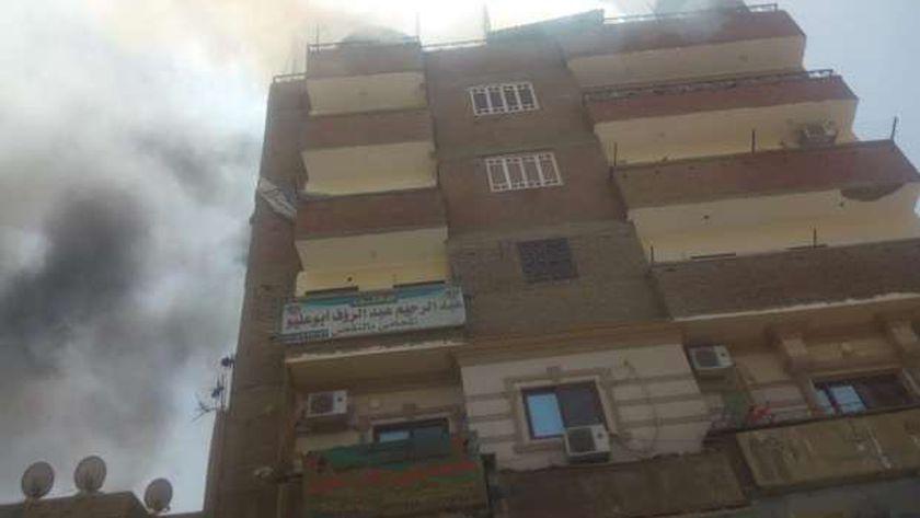 صور.. الحماية المدنية تنقذ 14 طفلا من حريق بسوهاج