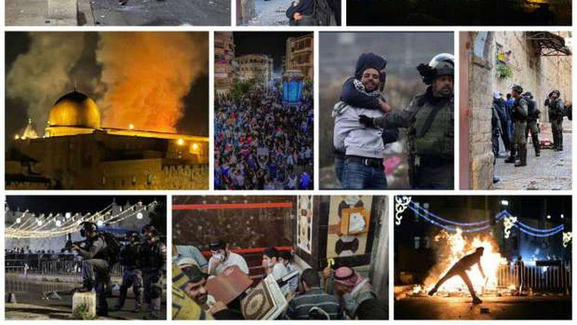 جانب من الاعتداءات الصهيونية على الفلسطينيين