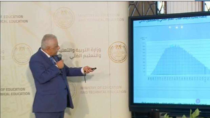 الدكتور طارق شوقي وزير التربية والتعليم والتعليم الفني في مؤتمره الصحفي اليوم