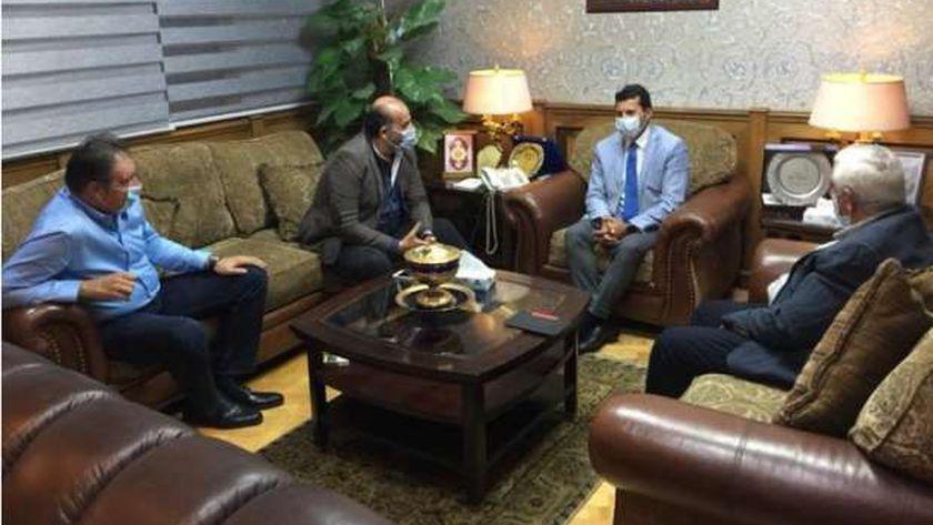 جانب من اجتماع وزير الشباب والرياضة ومحمد شبانة عضو نقابة الصحفيين