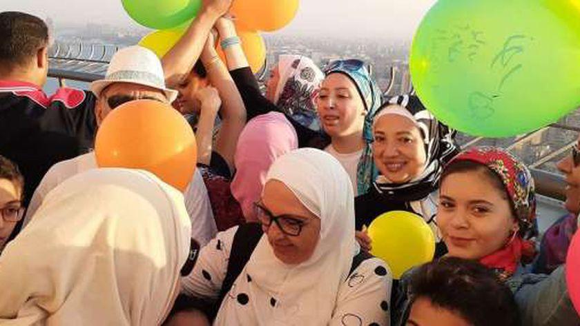 احتفال جمعية نواريس مصرية في برج القاهرة
