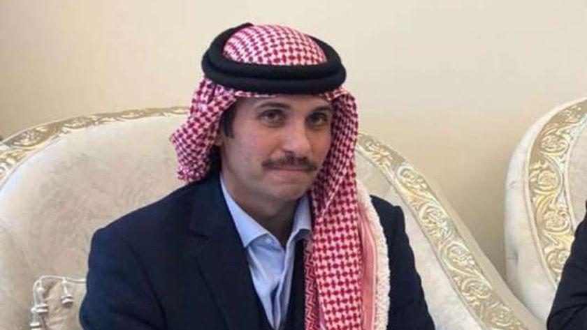 الأمير حمزة بن الحسين ولي عهد الأردن السابق وشقيق الملك