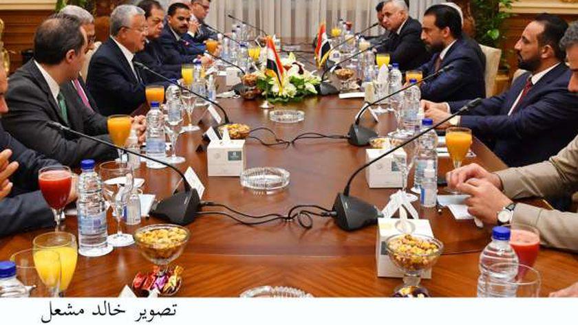 المستشار الدكتور حنفي جبالي  يلتقي رئيس مجلس النواب العراقي