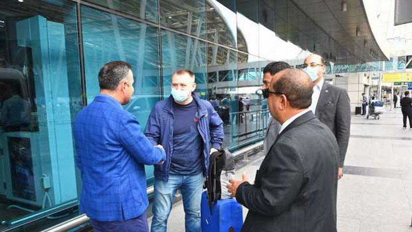 استقبال الوفد الروسي بمطار القاهرة