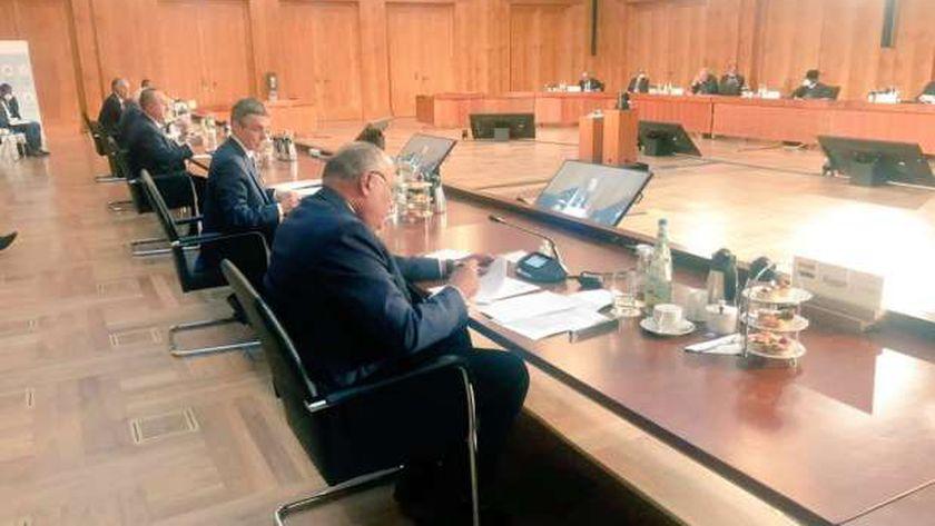 وزير الخارجية خلال مؤتمر برلين