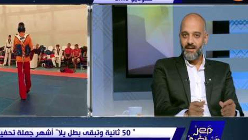 محمد مجدي المدير الفني للبطل الأولمبي سيف عيسى الحاصل على برونزية أولمبياد طوكيو
