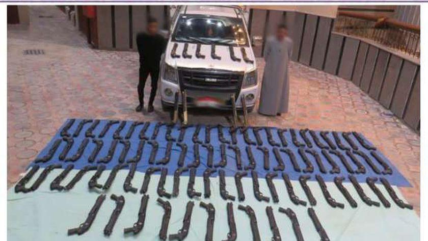 ضبط 94 بندقية خرطوش بحوزة عناصر إجرامية بمطروح