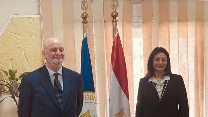 نائب وزير السياحة مع سفير دولة إسبانيا بالقاهرة