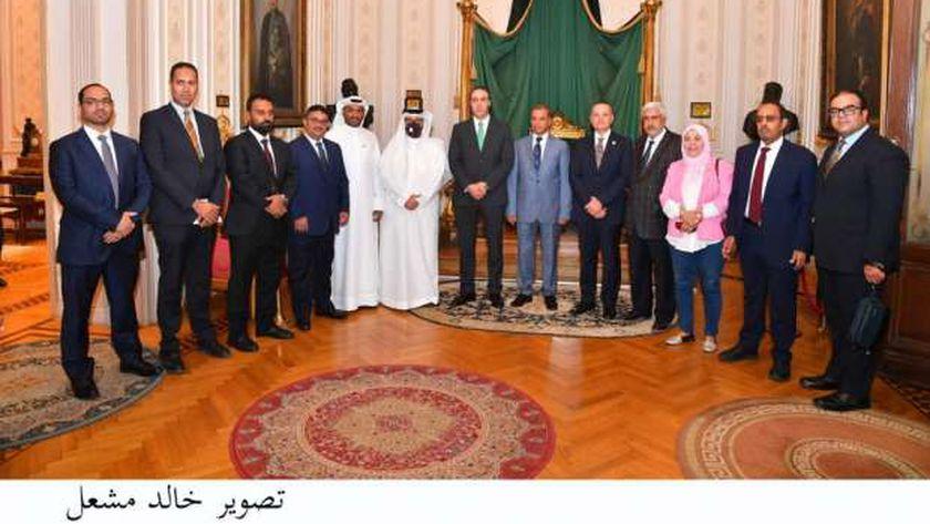 الأمين العام لمجلس النواب ووفد من البرلمان العربي