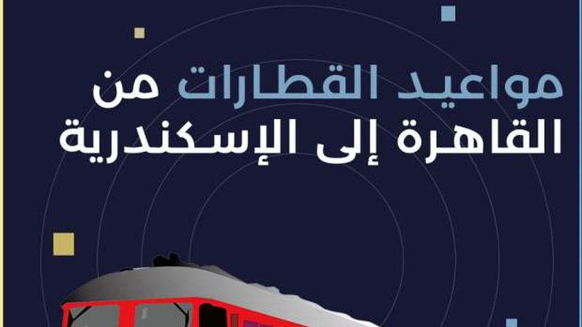 جدول مواعيد قطارات الإسكندرية - القاهرة