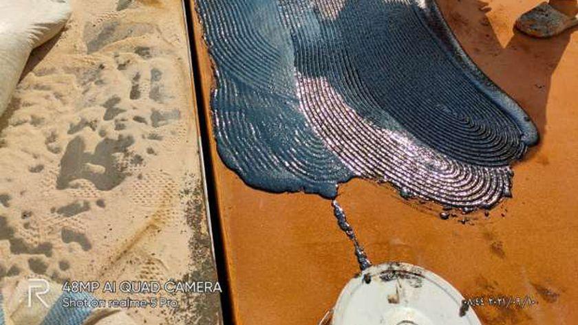 خلال اعمال صيانة كوبري الجيزة المعدني