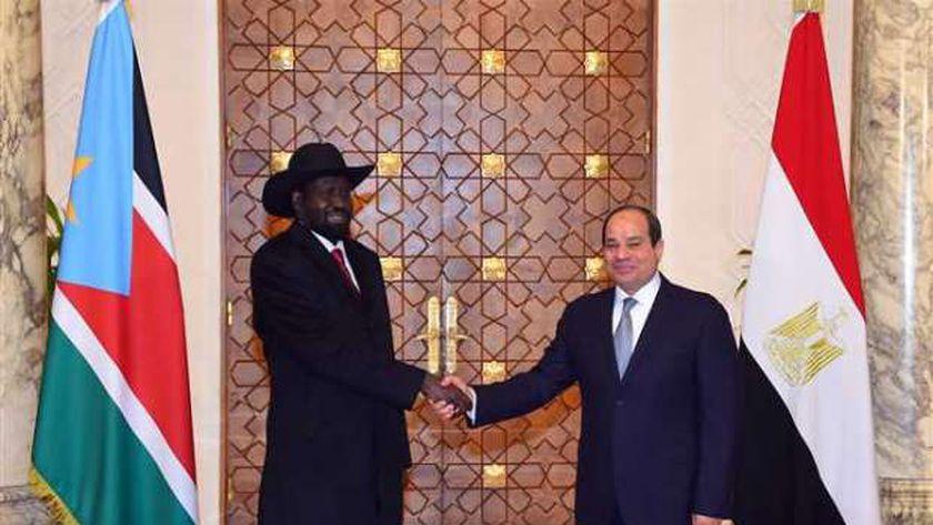 الرئيس عبدالفتاح السيسي ونظيره الجنوب سوداني سلفاكير