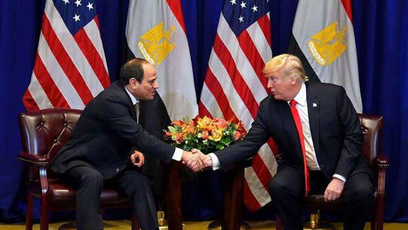 دونالد ترامب والرئيس عبد الفتاح السيسي