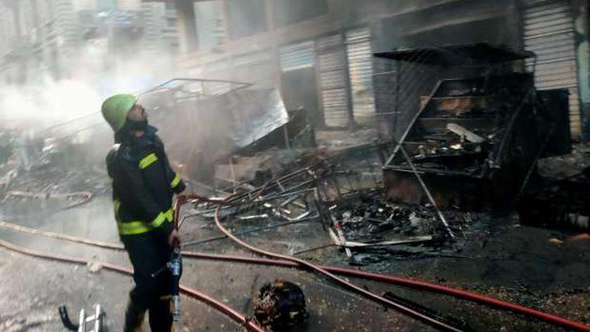 الحماية المدنية تسيطر على حريق التوفيقية