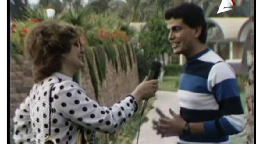 عمرو دياب في اول لقاء تلفزيوني