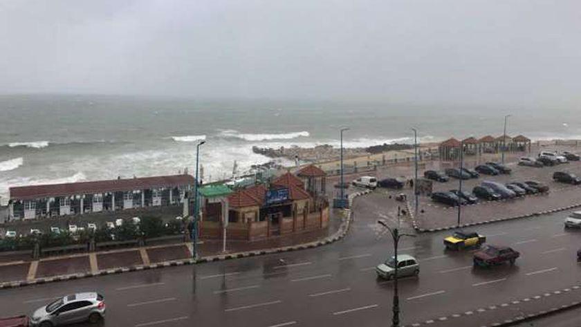 أمطار الإسكندرية بالموسم الماضي