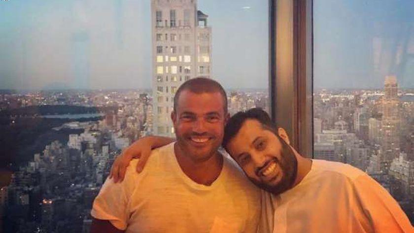 عمرو دياب وتركي آل شيخ