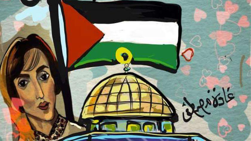 """أحد أعمال معرض """"فلسطين عربية أبدية"""""""