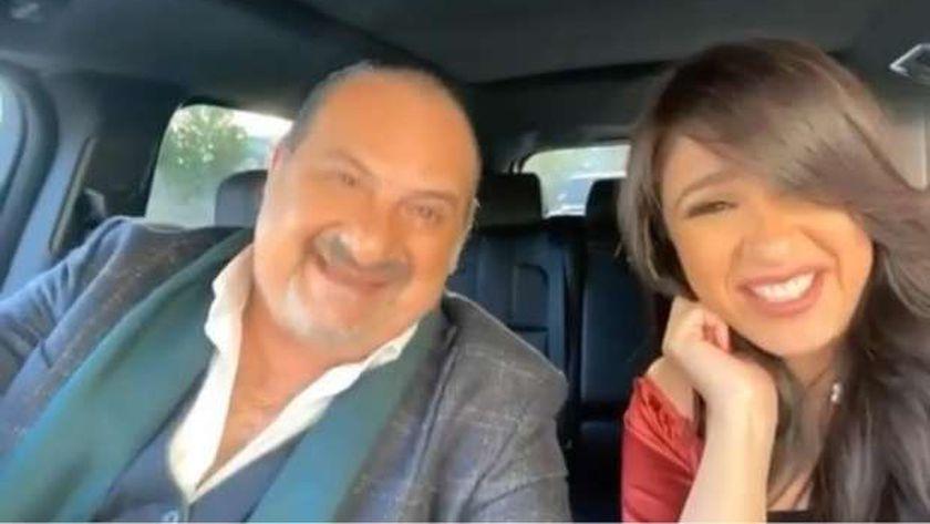 ياسمين عبد العزيز وخالد الصاوي من كواليس «اللي مالوش كبير»