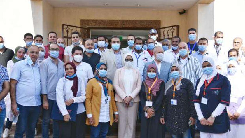 وزيرة الصحة: تسجيل 800 ألف مواطن بمنظومة التأمين الصحي الشامل بالأقصر