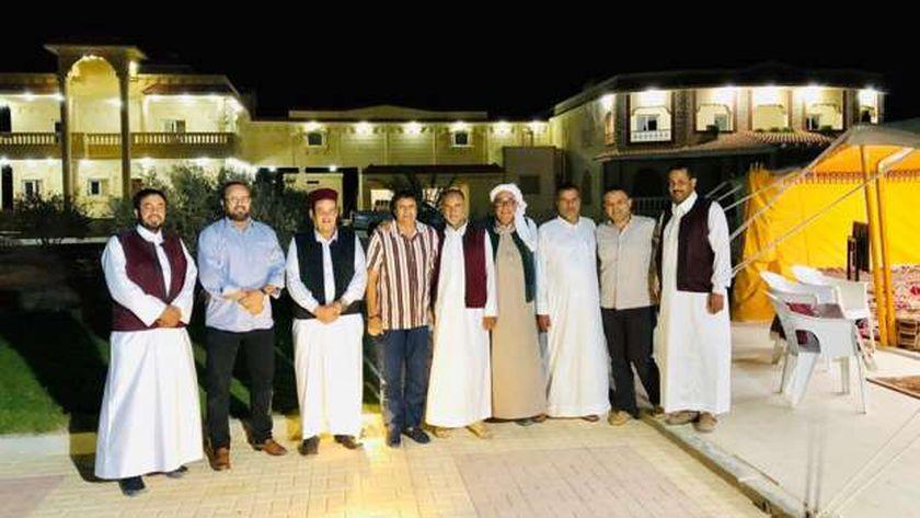 قبائل مطروح خلال لقائهم القنصل الليبى