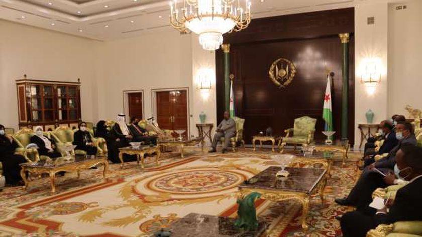 رئيس البرلمان العربي خلال الزيارة