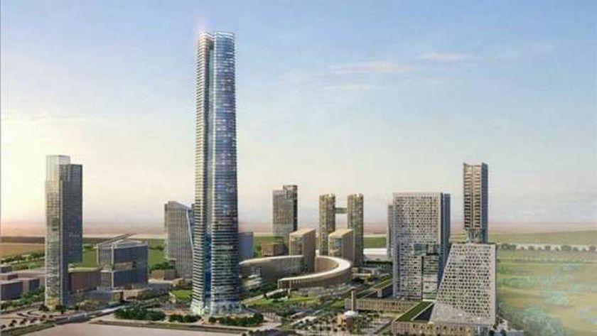 """""""البرج الأيقونى"""" أطول برج فى قارة أفريقيا بالعاصمة الإدارية الجديدة.. صورة أرشيفية"""