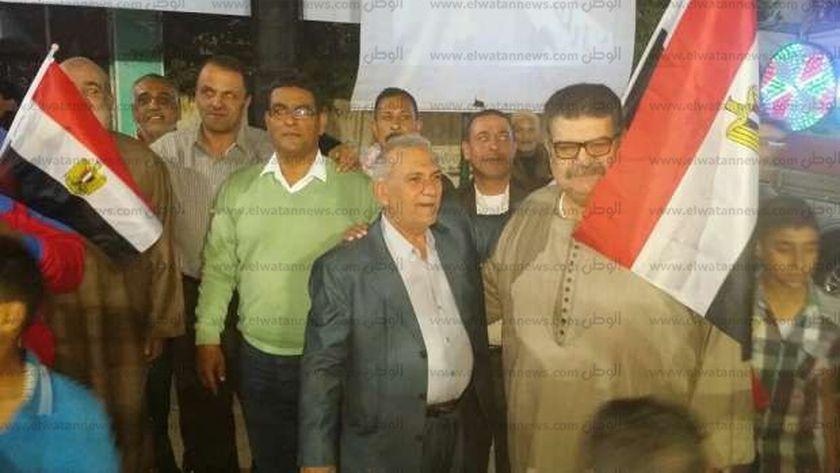 الاحتفال بفوز السيسى فى كفر الشيخ