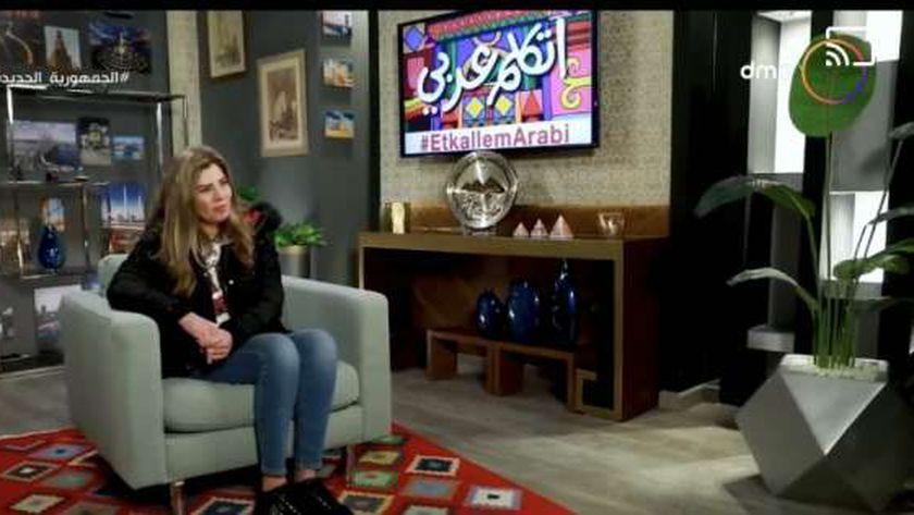 الفنانة رانيا فريد شوقي تدعم مبادرة اتكلم عربي