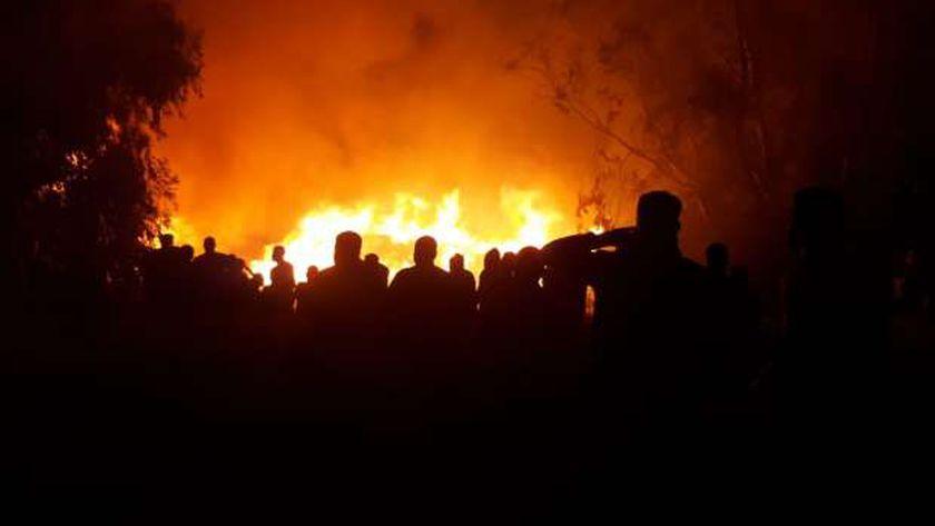 حريق هائل- صورة أرشيفية