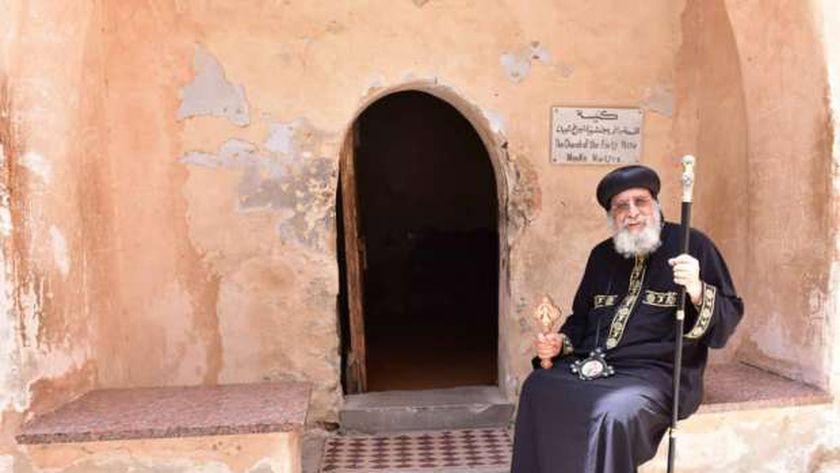 البابا تواضروس داخل دير أبو مقار