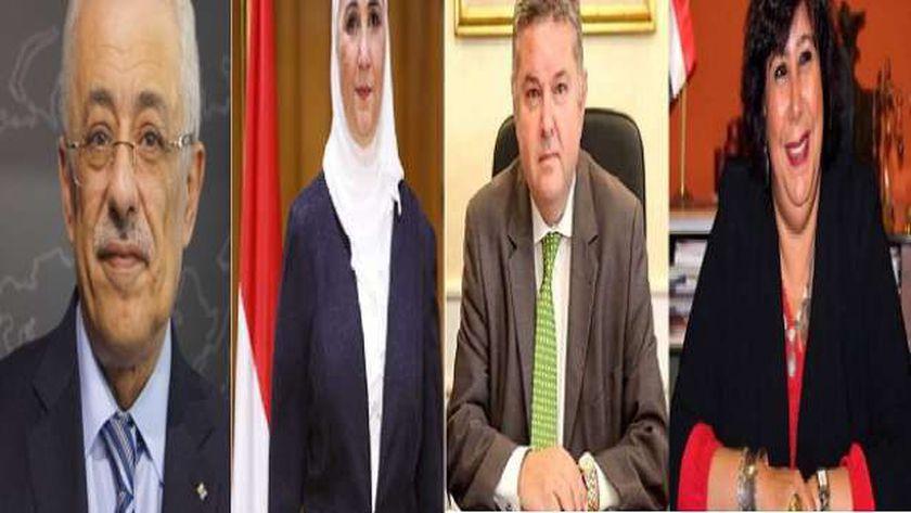 وزراء التعليم والتضامن وقطاع الأعمال والثقافة