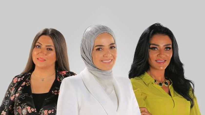 هبة الأباصيري وإيمان عز الدين مع منى عبد الغني