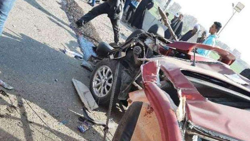 مصرع محامي في حادث علي طريق شربين