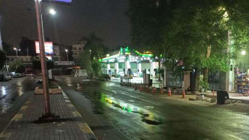 الأمطار تغرق شوارع الجيزة