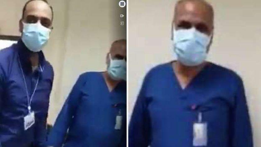 صورة من فيديو الطبيب والممرض والكلب