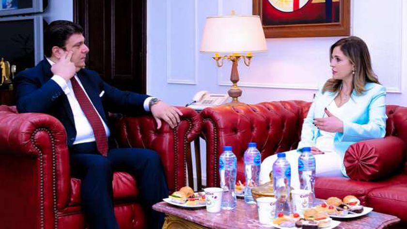 حسين زين يلتقى وزيرة الإعلام اللبناني