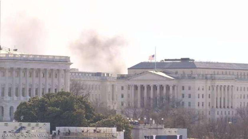 حريق في مبنى الكونجرس