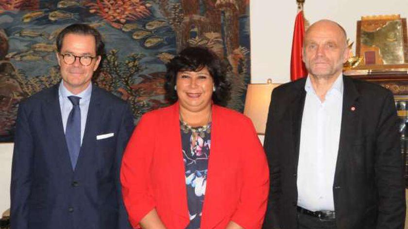 وزيرة الثقافة تستقبل السفير الفرنسي لبحث سبل دعم التعاون بين البلدين