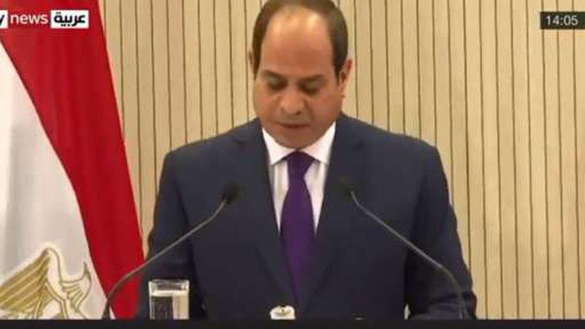 كلمة الرئيس عبد الفتاح السيسي في القمة الثلاثية التى جمعت مصر وقبرص واليونان