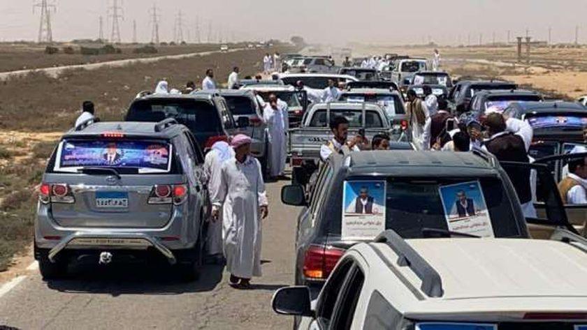 جانب مسيرة حزب مستقبل وطن لمرشحى الشيوخ من السلوم لسيوة