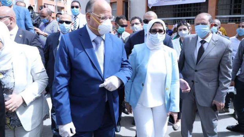 وزيرة الصحة بصحبة محافظ القاهرة