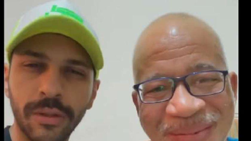 شريف دسوقي وحسن أبو الروس داخل المستشفى