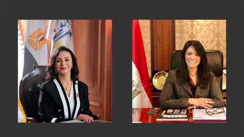 الدكتورة رانيا المشاط والدكتورة مايا مرسي