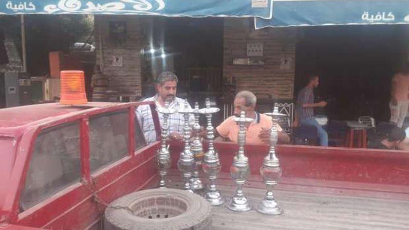 حملة علي مقاهي السنبلاوين