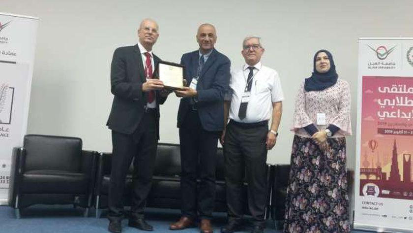 جامعة الفيوم تفوز بالمركز الثالث في مسابقة للبحث العلمي بالإمارات