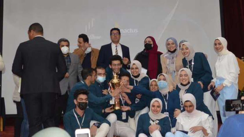 مسابقة ريادة الأعمال بجامعة المنصورة