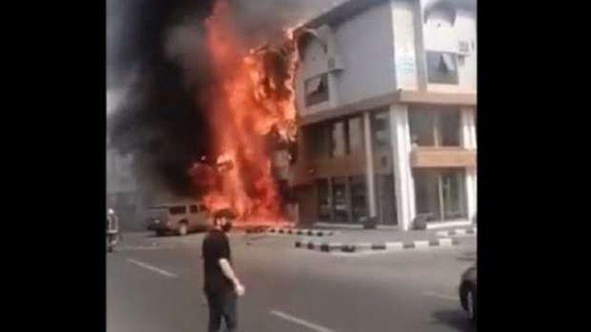 حريق المطعم المصري بجدة